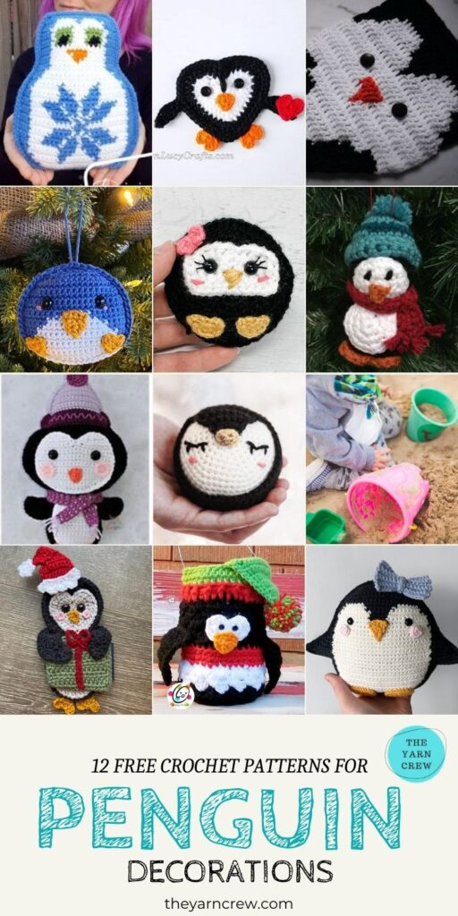 12 Free Crochet Patterns For Penguin Decorations - PIN3