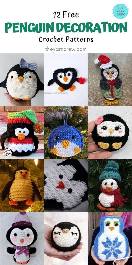 12 Free Penguin Decoration Crochet Patterns - PIN2