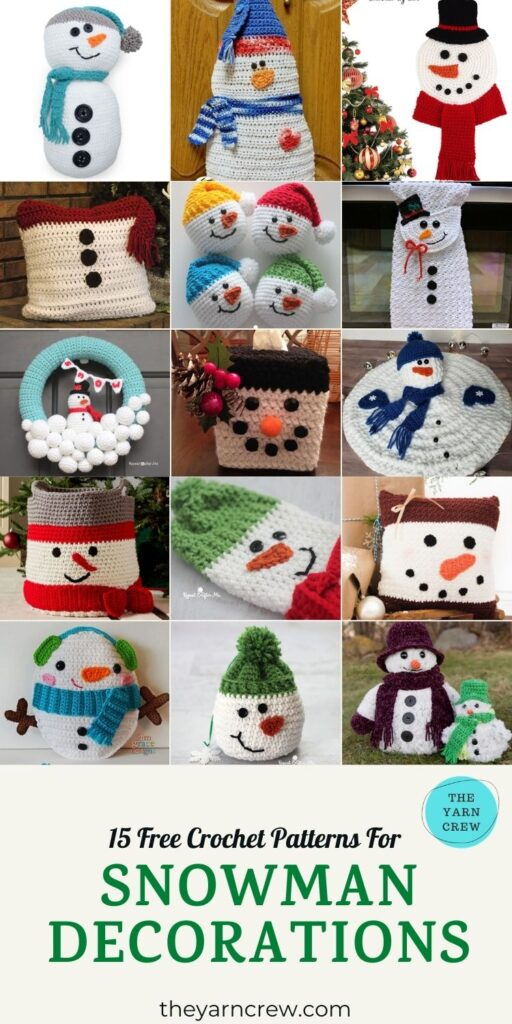 15 Free Crochet Patterns For Snowman Decorations - PIN3