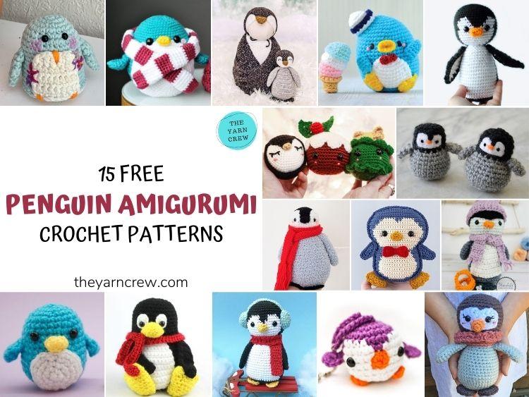 15 Free Penguin Amigurumi Crochet Patterns - FB POSTER