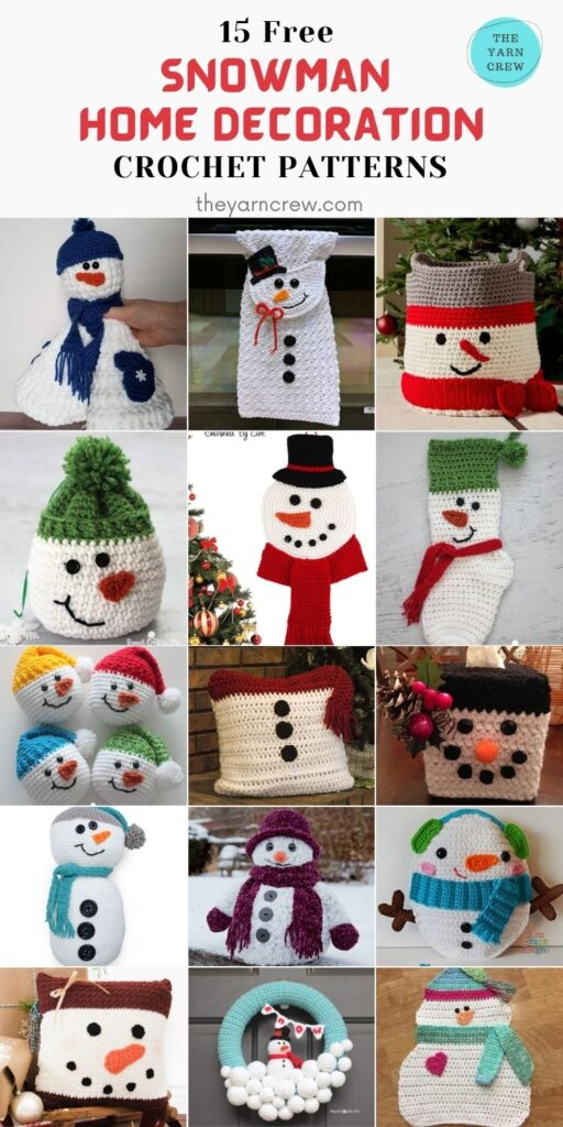 15 Free Snowman Home Decoration Crochet Patterns - PIN2