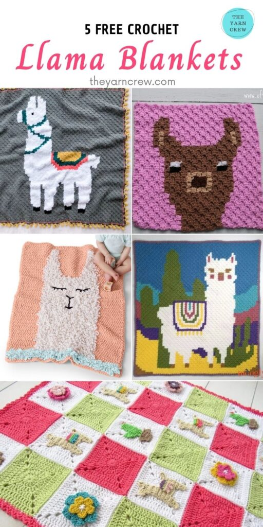 5 Free Crochet Llama Blankets - PIN2