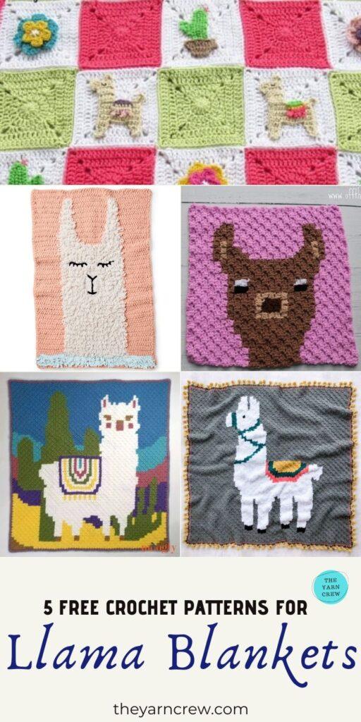 5 Free Crochet Patterns Llama Blankets - PIN3