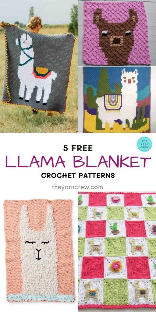 5 Free Llama Blanket Crochet Patterns - PIN1