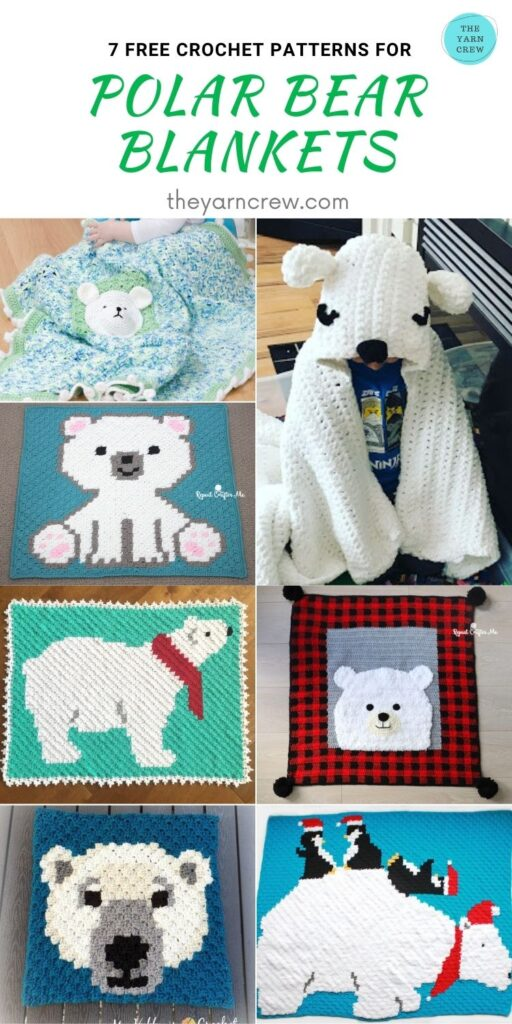 7 Free Crochet Patterns For Polar Bear Blankets - PIN2