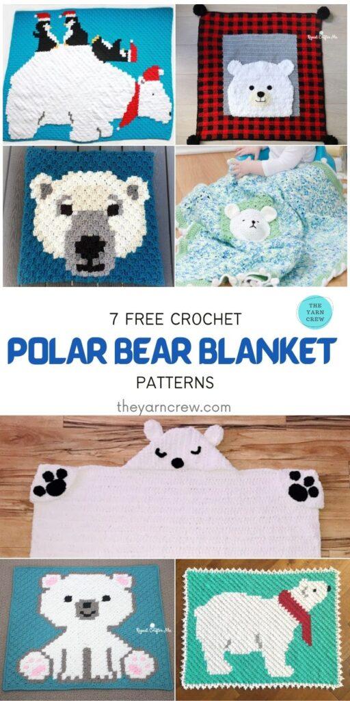 7 Free Crochet Polar Bear Blanket Patterns - PIN1