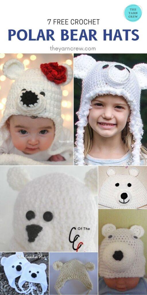 _7 Free Crochet Polar Bear Hats - PIN2