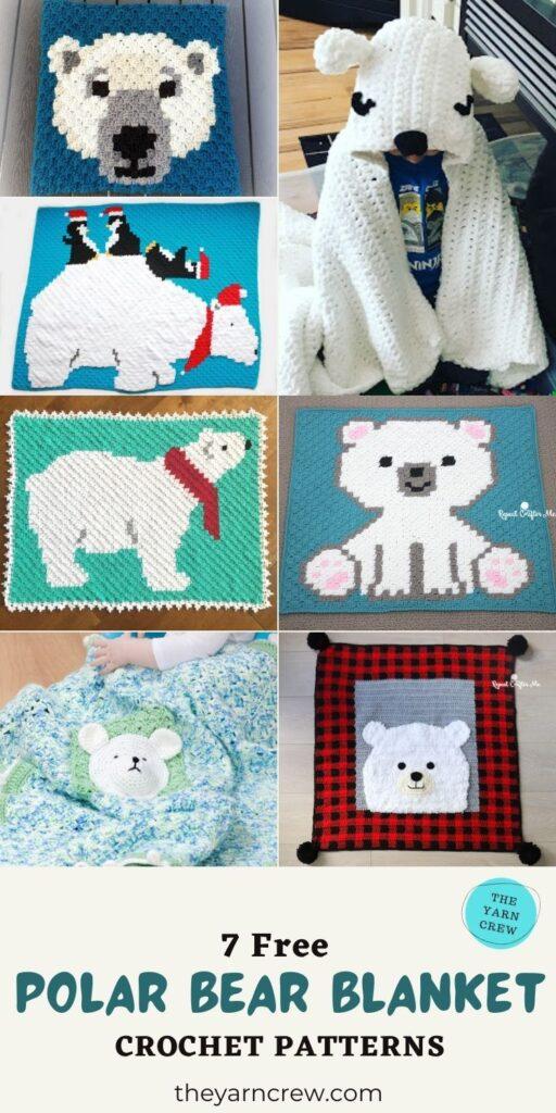 7 Free Polar Bear Blanket Crochet Patterns - PIN3