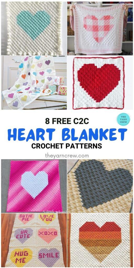 _8 Free C2C Heart Blankets Free Crochet Patterns - PIN1