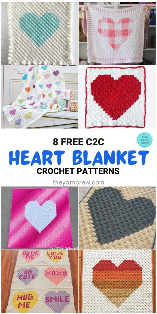 _8 Free C2C Heart Blankets Free Crochet Patterns - PIN1