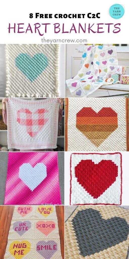 _8 Free Crochet Heart Blankets - PIN2