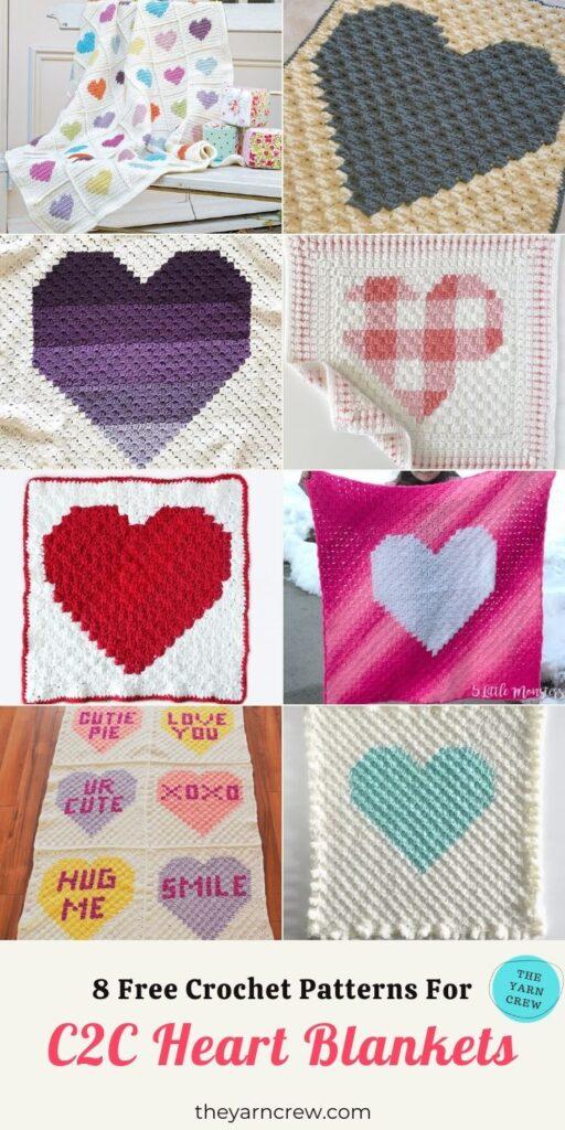_8 Free Crochet Patterns For Heart Blankets - PIN3