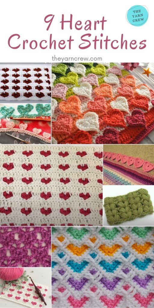 9 Heart Crochet Stitches - PIN2