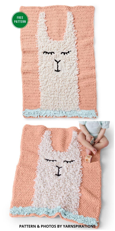 Alpaca Love Blanket Free Crochet Pattern - 5 Free Llama Blanket Crochet Patterns