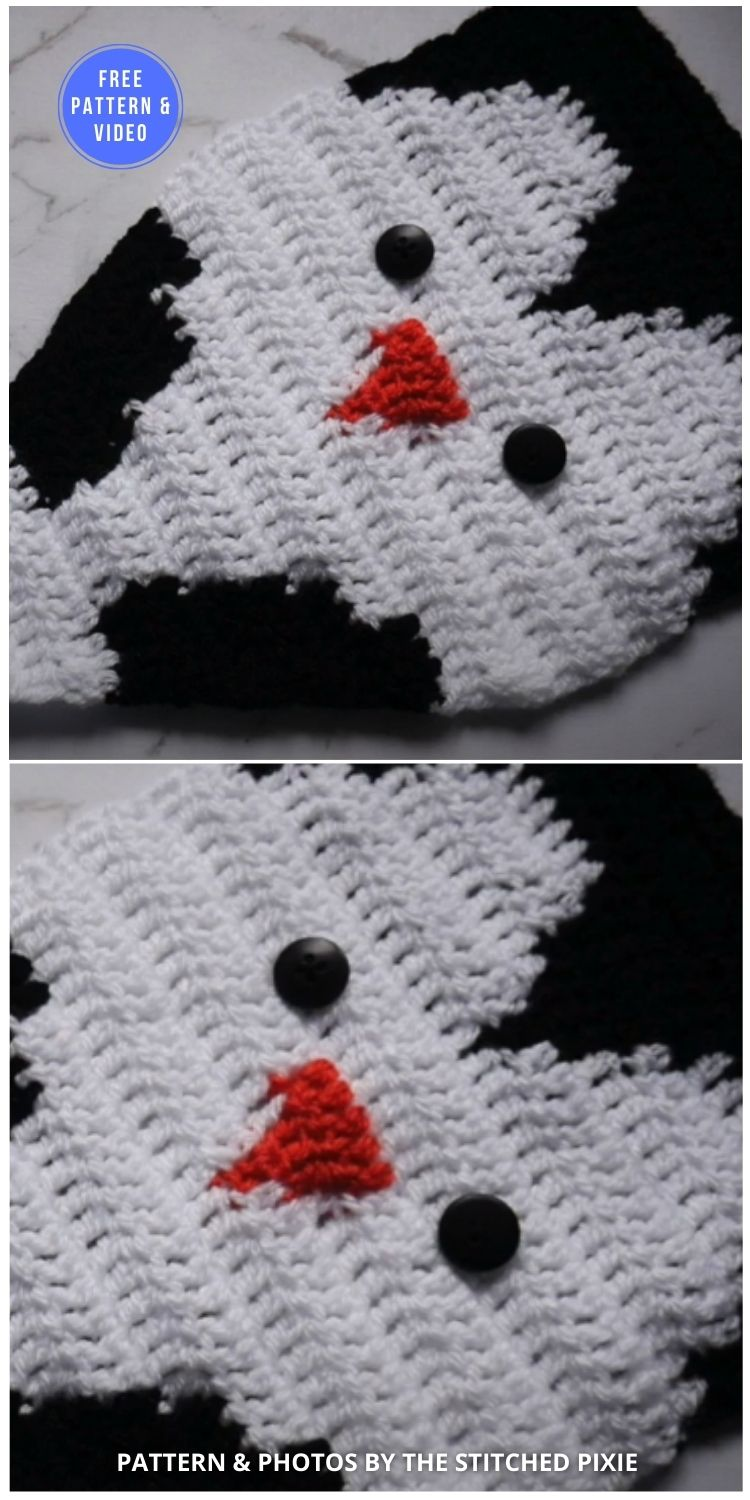Crochet Penguin Wall Hanging - 12 Free Crochet Penguin Home Decor Ideas
