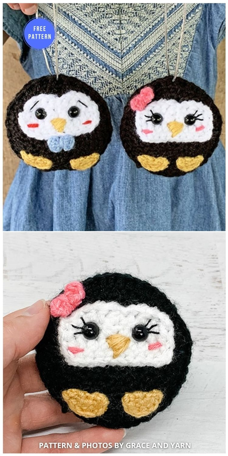 Free Crochet Penguin Ornament Pattern - 12 Free Crochet Penguin Home Decor Ideas