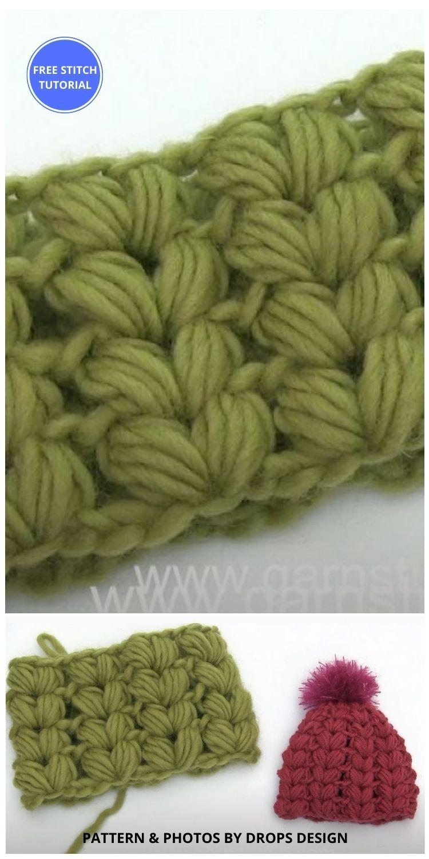How to crochet puff stitches shaped like hearts - 9 Beautiful Heart Crochet Stitches Free Tutorials