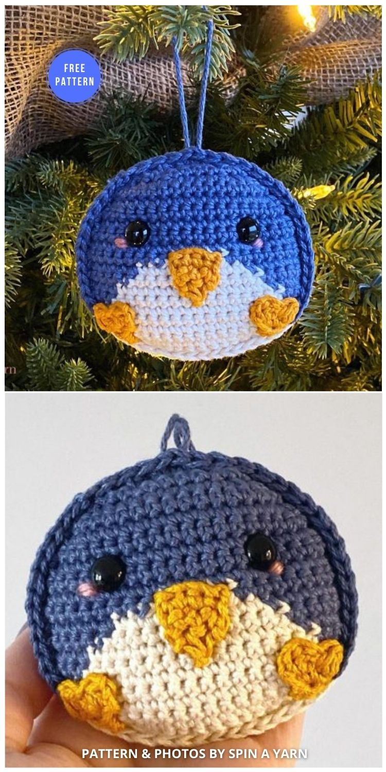 Penguin Ornament Free Crochet Pattern - 12 Free Crochet Penguin Home Decor Ideas