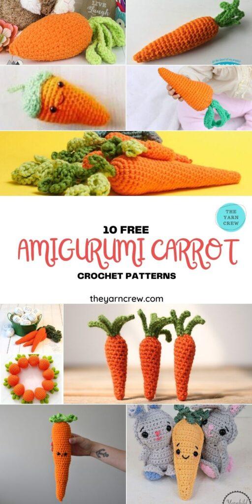 10 Free Amigurumi Carrot Crochet Patterns - PIN1