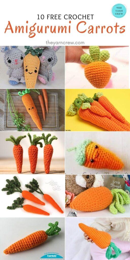 10 Free Crochet Amigurumi Carrots - PIN2