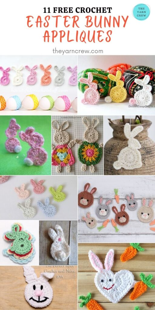 11 Free Crochet Easter Bunny Appliques - PIN2