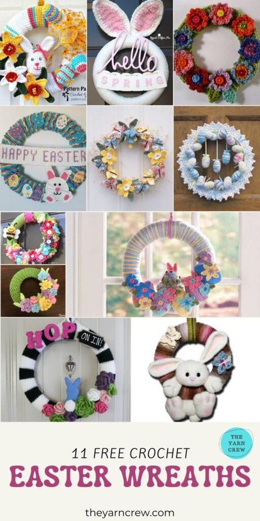 11 Free Crochet Easter Wreaths - PIN3