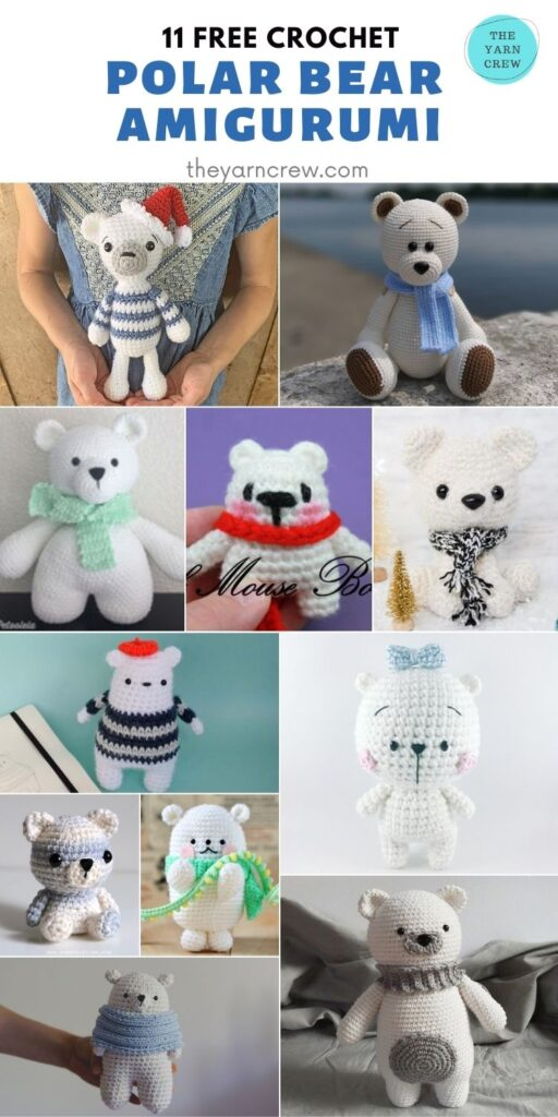 11 Free Crochet Polar Bear Amigurumi - PIN2