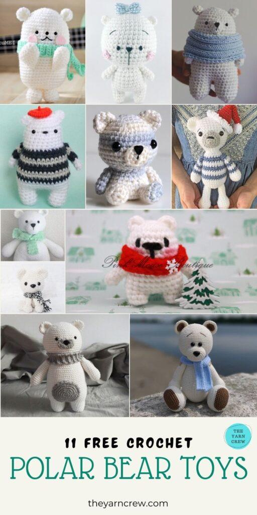 11 Free Crochet Polar Bear Toys - PIN2