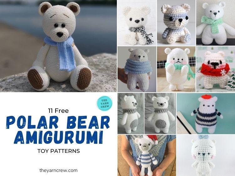 11 Free Polar Bear Amigurumi Toy Patterns - FB POSTER