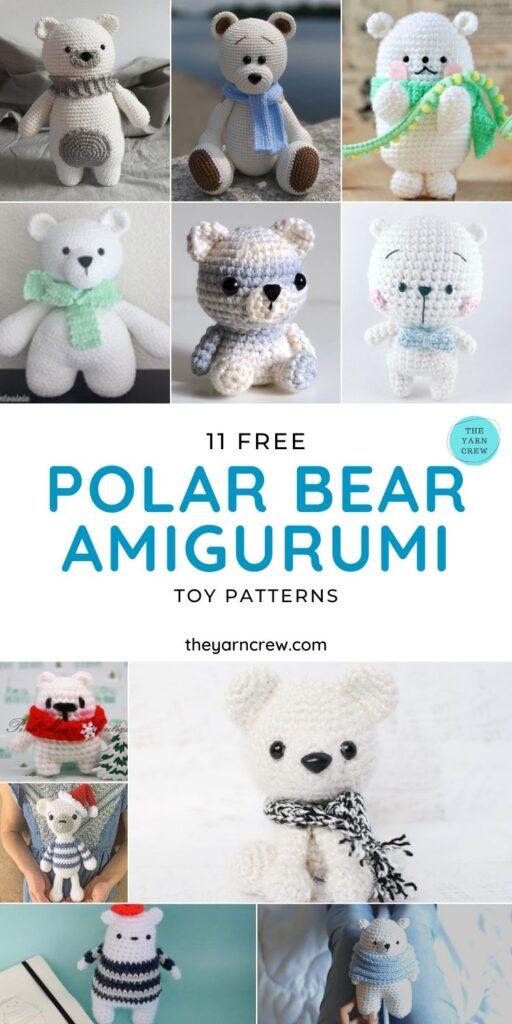 11 Free Polar Bear Amigurumi Toy Patterns - PIN1