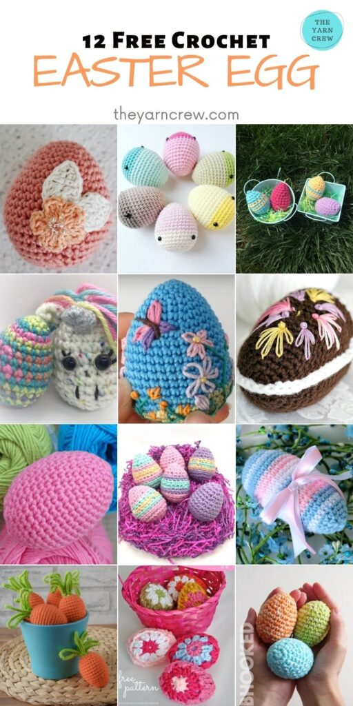 12 Free Crochet Easter Egg - PIN2
