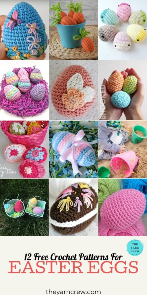 12 Free Crochet Patterns For Easter Eggs - PIN3