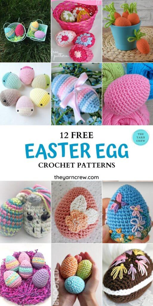 12 Free Easter Egg Crochet Patterns - PIN1