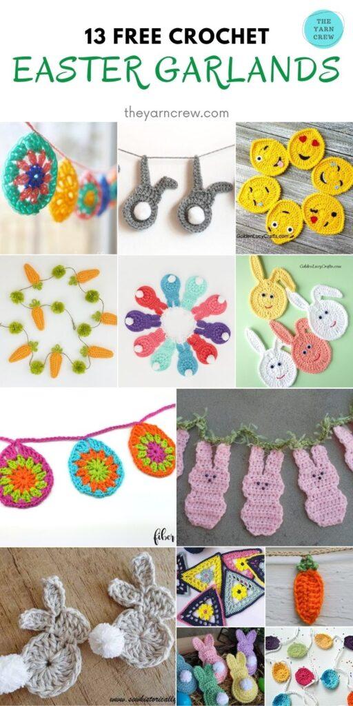 13 Free Crochet Easter Garland - PIN2