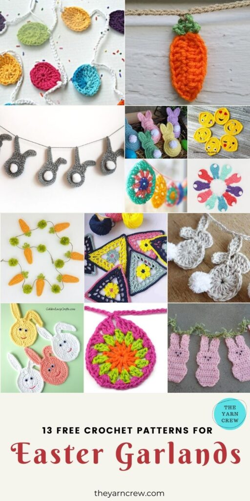 13 Free Crochet Patterns For Easter Garlands - PIN3