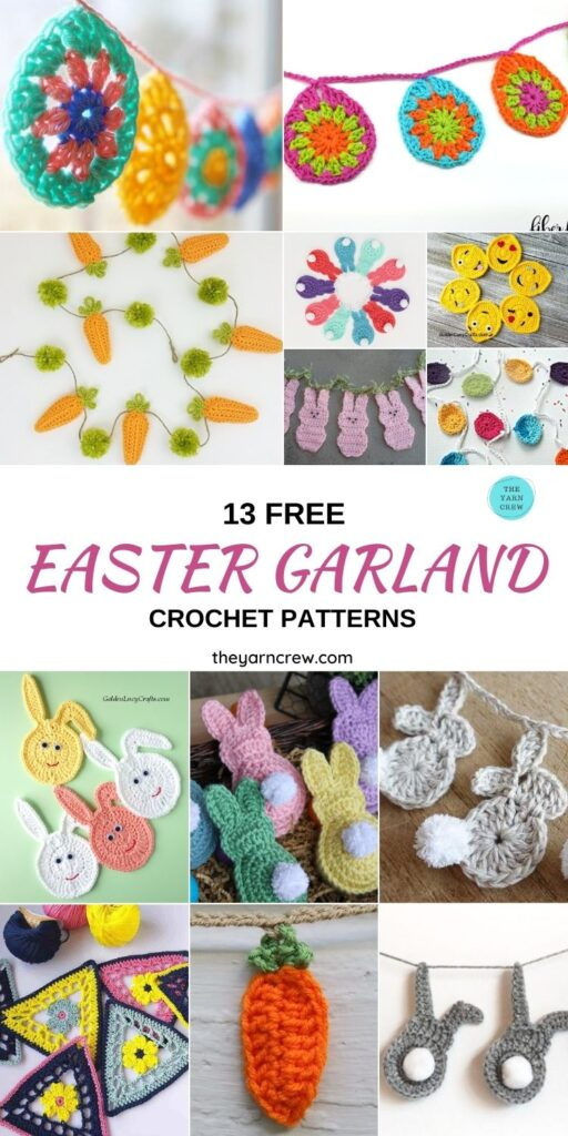 13 Free Easter Garland Crochet Patterns - PIN1