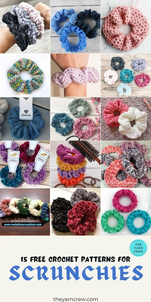 15 Free Crochet Patterns For Scrunchies - PIN3