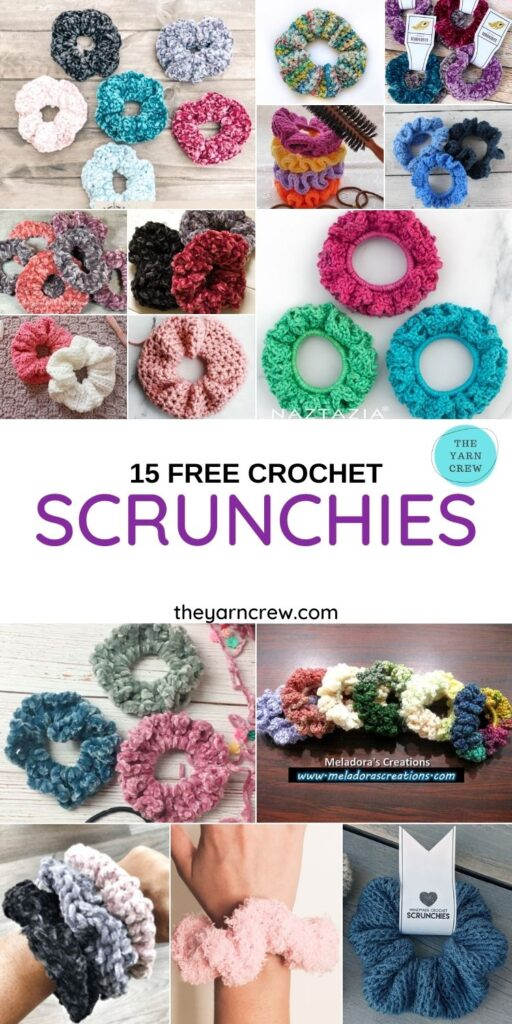 15 Free Crochet Scrunchies - PIN1