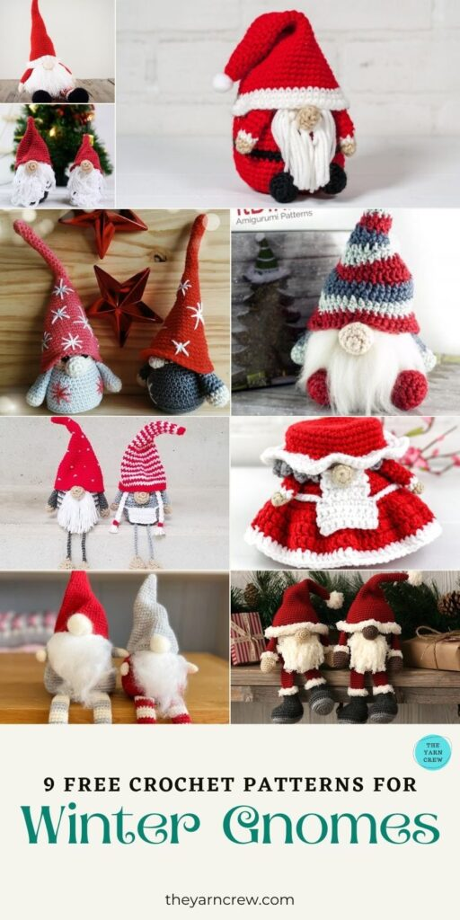 9 Free Crochet Patterns For Winter Gnomes - PIN3