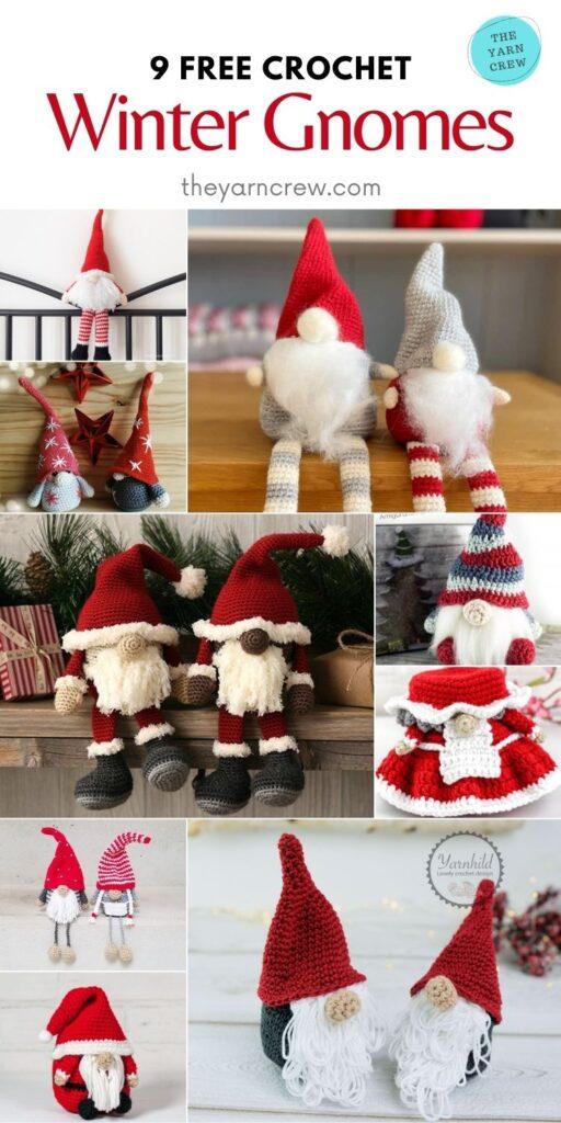 9 Free Crochet Winter Gnomes - PIN2