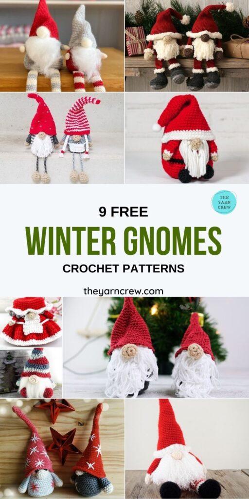 9 Free Winter Gnomes Crochet Patterns - PIN1