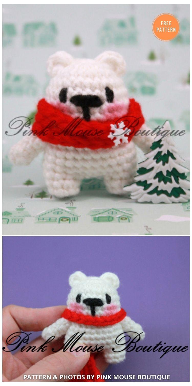 Amigurumi Polar Bear - 11 Free Polar Bear Amigurumi Toy Patterns