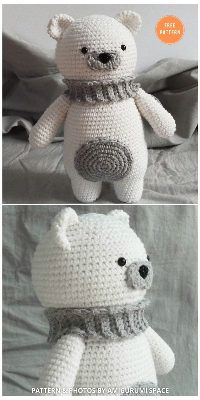 Amigurumi Polar Bear Free Crochet Pattern - 11 Free Polar Bear Amigurumi Toy Patterns