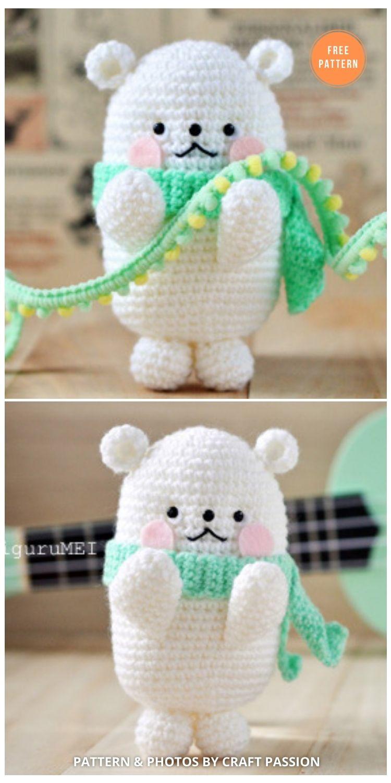 Bubblegum Polar Bear Amigurumi Crochet Pattern - 11 Free Polar Bear Amigurumi Toy Patterns