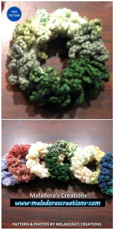 Chain Scrunchie - 15 Free Crochet Scrunchies