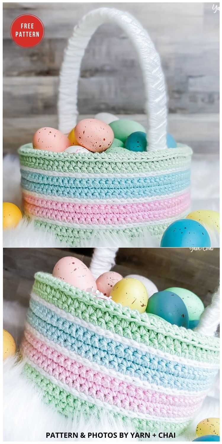 Classic Easter Basket - 10 Free Patterns For Cute Easter Baskets