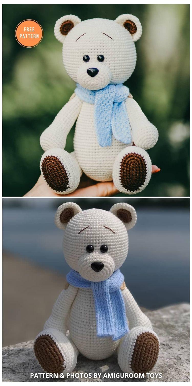 Crochet Bear Amigurumi Pattern - 11 Free Polar Bear Amigurumi Toy Patterns