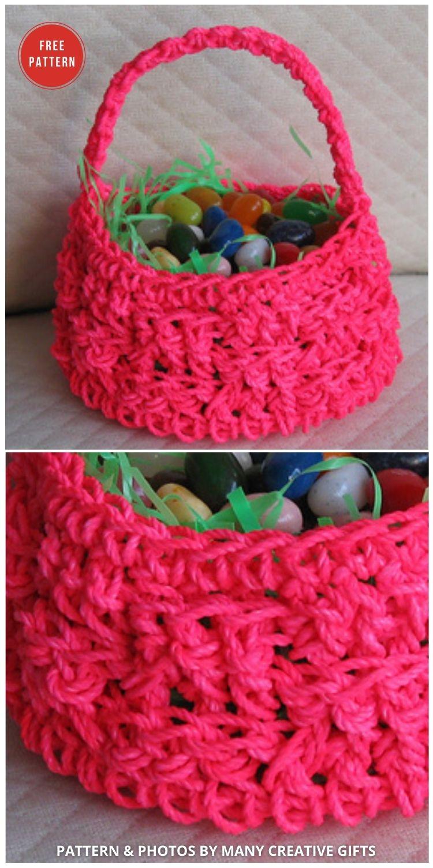 Crochet Easter Basket - 10 Free Patterns For Cute Easter Baskets