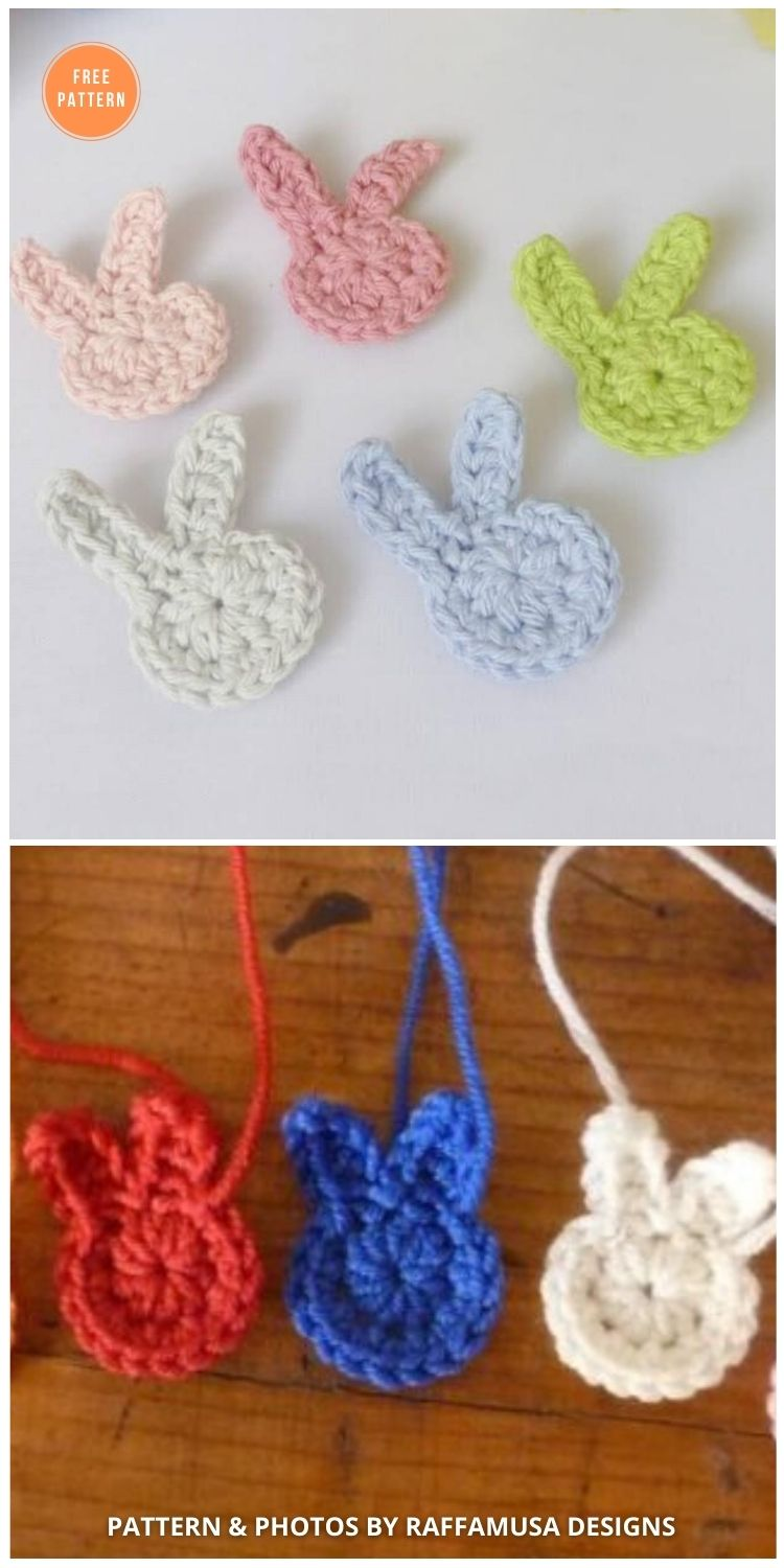 Crochet Easter Bunny Applique - 11 Free Easter Bunny Appliques Crochet Patterns