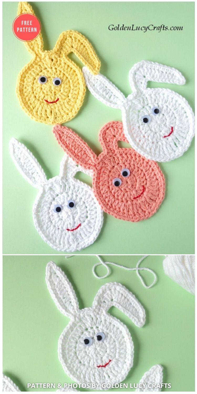 Crochet Easter Bunny Egg Garland - 13 Free Easter Garland Crochet Patterns